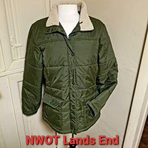 lands end coat size L NWOT